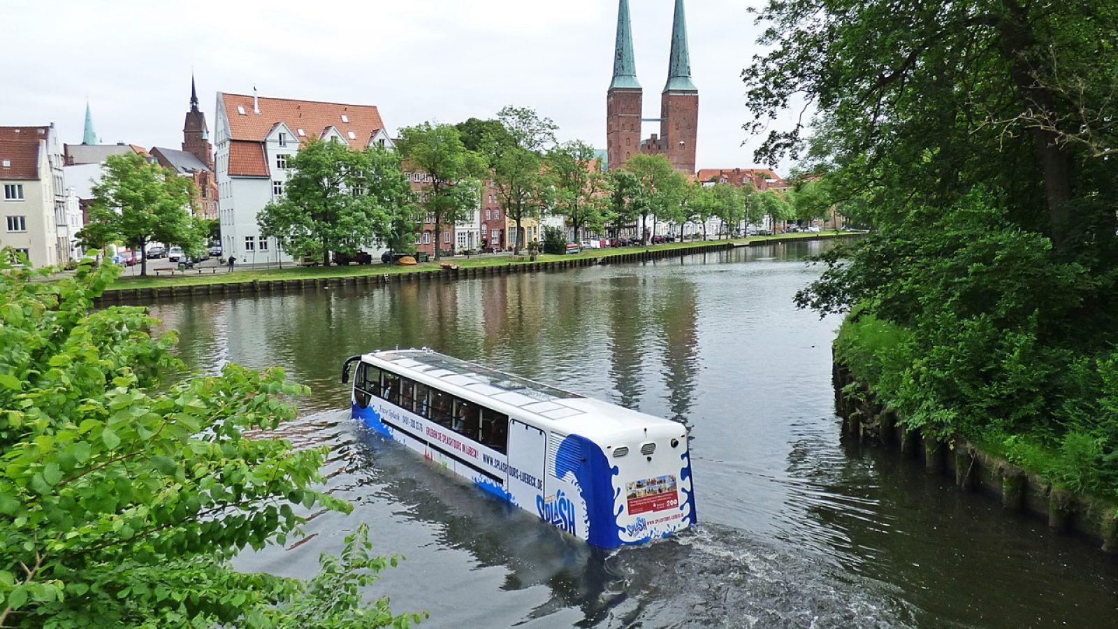 Amphibientour in Lübeck